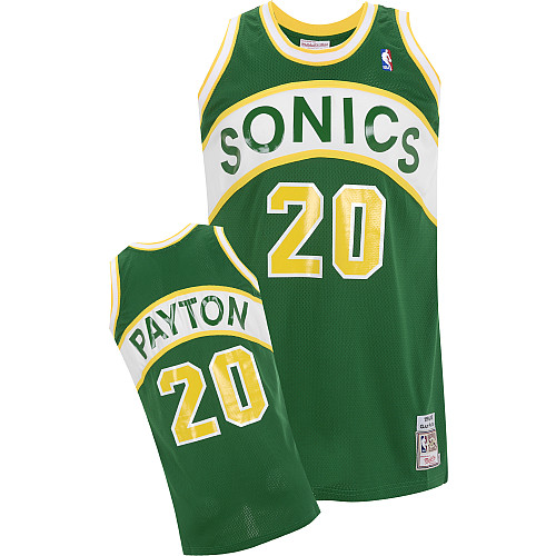 save off a75fd a8188 Mitchell & Ness Seattle Supersonics Gary Payton Authentic ...