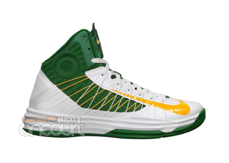 buy popular 6b0d8 0d8b2 ... Nike Lunar Hyperdunk 2012 White  University Gold- Pine Green . ...