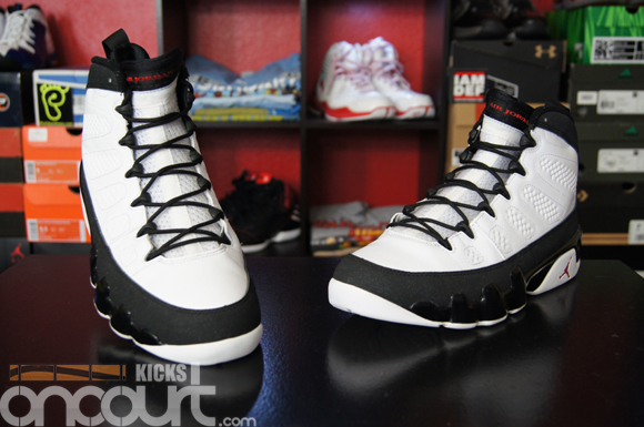 detailing 6b8e4 3bffa air jordan 9 charcoal on feet
