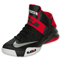 Nike LeBron Zoom Soldier VI (6) Black/ White- University Red \u2013 Available Now