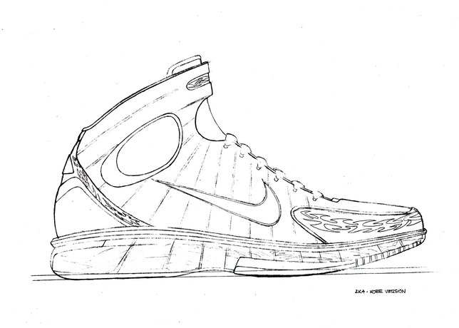 Under Armour Basketball Shoe Coloring Pages