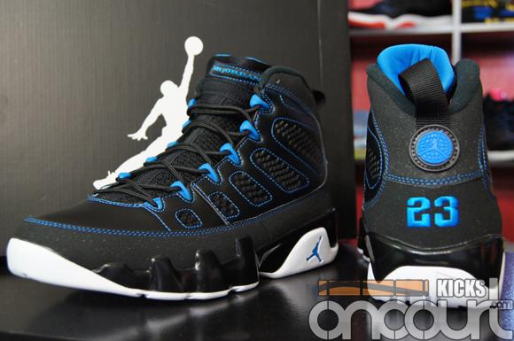 on sale 9dc53 1beff Air Jordan IX (9) Retro Black/ White- Photo Blue - Detailed ...