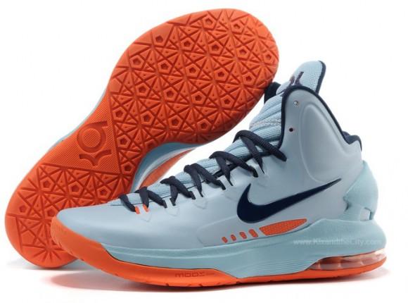 Nike KD V (5) Ice Blue/ Squadron Blue - Total Orange ...