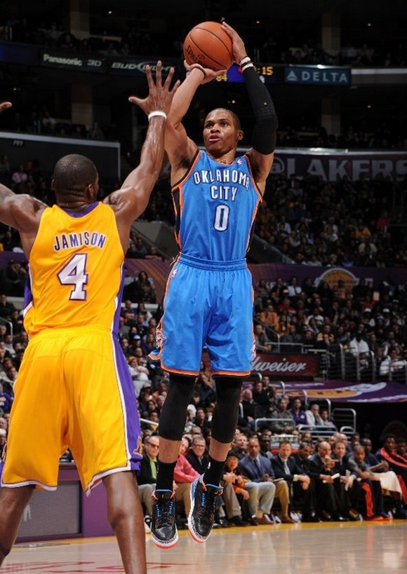 Russell Westbrook in Air Jordan III (3) Retro P.E.