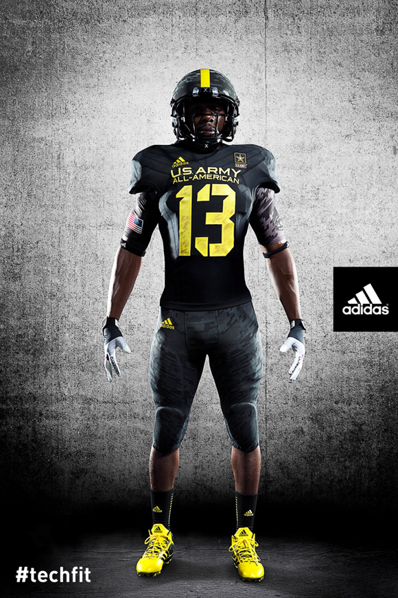 adidas unveils new techfit football uniforms for us army