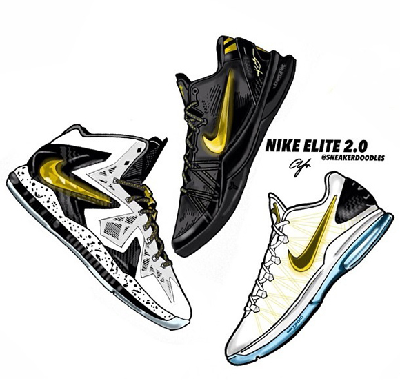 Nike Elite Series 2.0 Art by SneakerDoodles 1