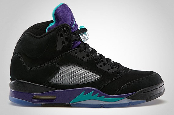sports shoes 8b718 3abbd Air Jordan 5 Retro 'Black Grape/ Aqua' - Available for Pre ...