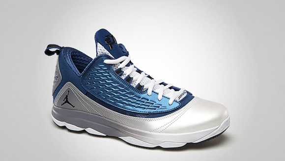 Jordan CP3.VI AE True Blue Black - White Cement Grey 2