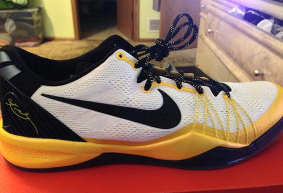 Nike Kobe 8 SYSTEM Elite PE White Black - Del Sol