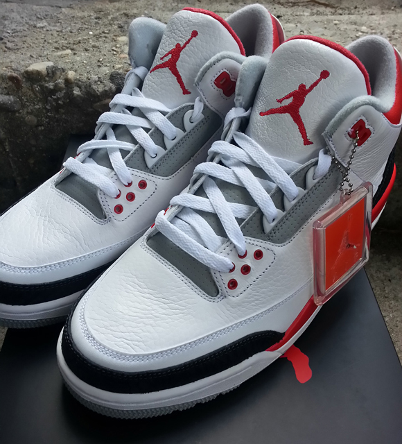 the latest e92f2 53077 Air Jordan 3 Retro 'Fire Red' - Detailed Look - WearTesters