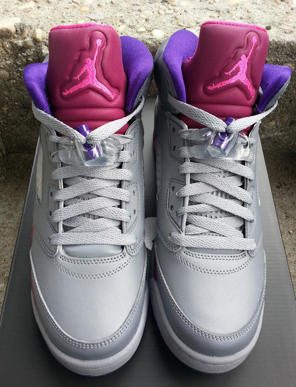 Air Jordan 5 Grey Pink Purple