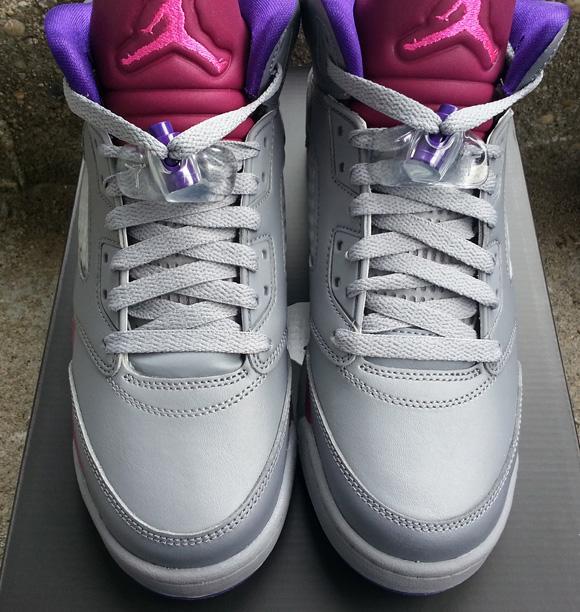 low priced 6b6fc 56bac Girls Air Jordan 5 Retro Grey/ Pink Flash - Available Now ...