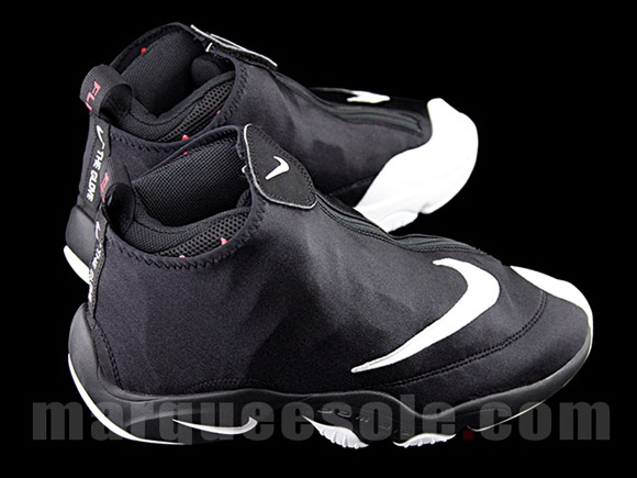 Nike Zoom Flight 98 'The Glove' Black White - Red - Detailed Look 2