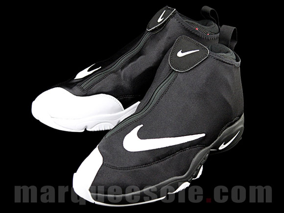Nike Zoom Flight 98 'The Glove' Black White - Red - Detailed Look 3