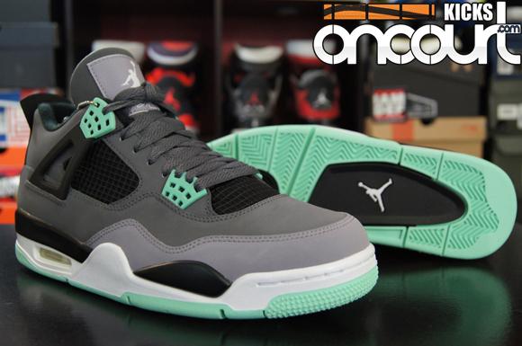 Air Jordan 4 Iv Rétro Lumière Verte