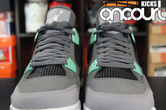 new products 80afb d1246 ... Air Jordan 4 Retro Green Glow - Detailed Look .