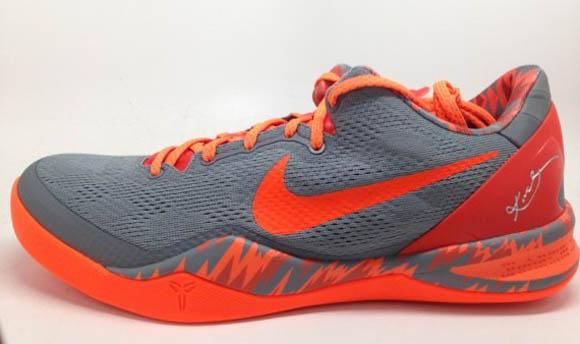 b57c1554 Nike Kobe 8 SYSTEM PP Grey/ Orange - WearTesters