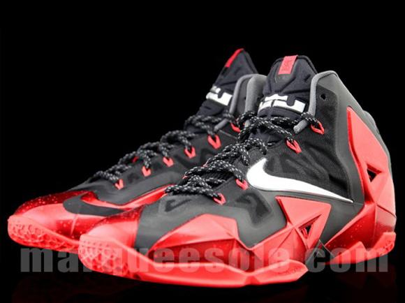 on sale 8b719 b3018 Nike LeBron XI Black/ Red - Detailed Look - WearTesters