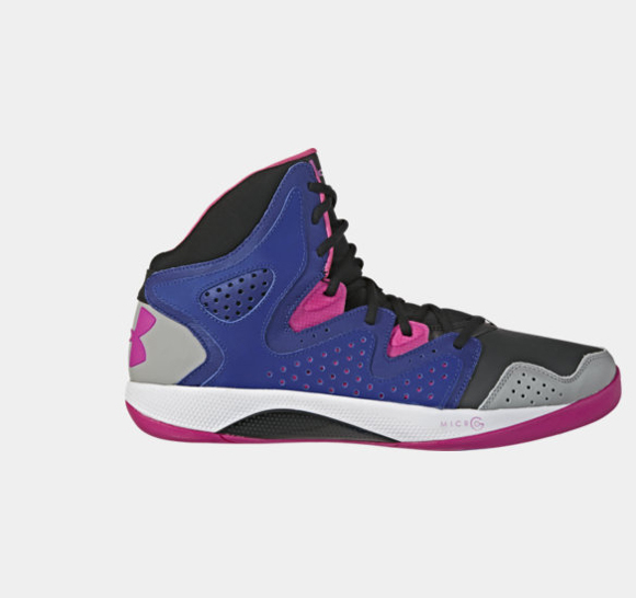 ua micro g torch pink grey