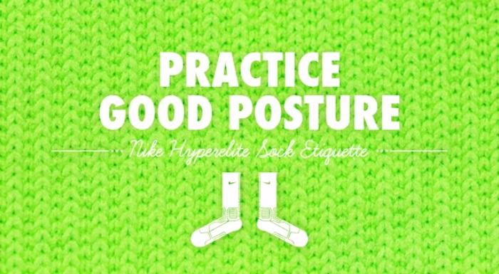 VIDEO Nike Hyperelite Socks - Good Posture