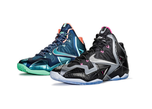 Nike LeBron XI (11) \u0026#39;Akron Vs. Miami\u0026#39; \u0026amp; \u0026#39;Miami Nights