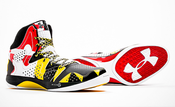 Maryland Flag Under Armour Basketball Shoes