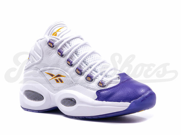 reebok question mid for players use only white purple