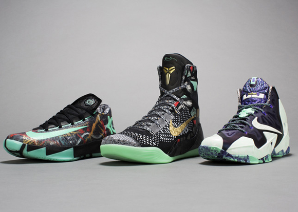 outlet store 520bb be040 Nike Basketball All-Star Lineup 1  While Kobe ...