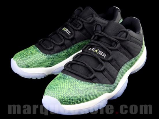 """Air Jordan 11 Low """"Green Snake"""" – Release Date 3"""