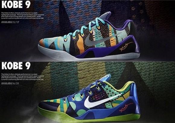 Two New Colorways of the Nike Kobe 9 EM