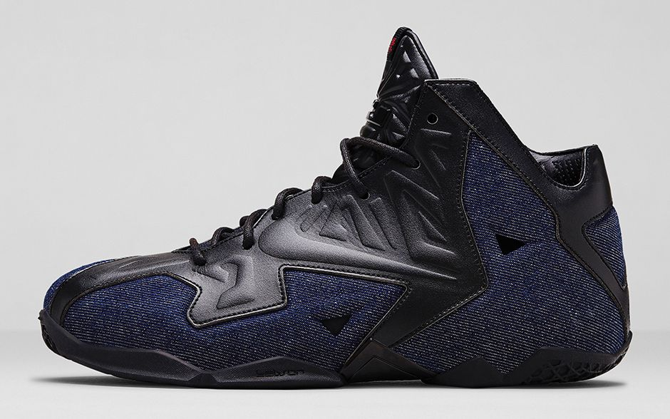 new products 61459 4862d LeBron 11 EXT Denim - Detailed Look + Release Date-1 ...