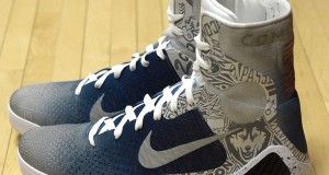 "Nike Kobe 9 Elite ""UCONN"" by Mache Customs for Geno Auriemma"
