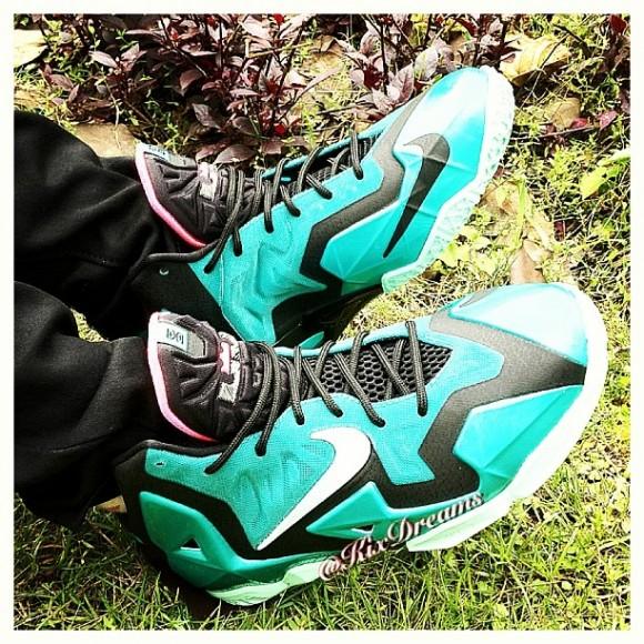Nike LeBron 11 'South Beach' - On-Feet Look 1