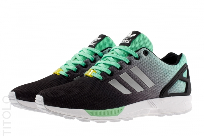 adidas zx flux black and red fade