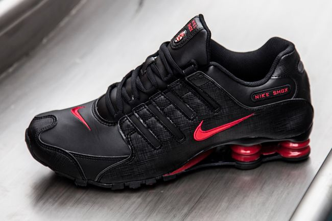on sale 24c6f 1de2e ... nike-shox-nz-black-gym-red-1 ...