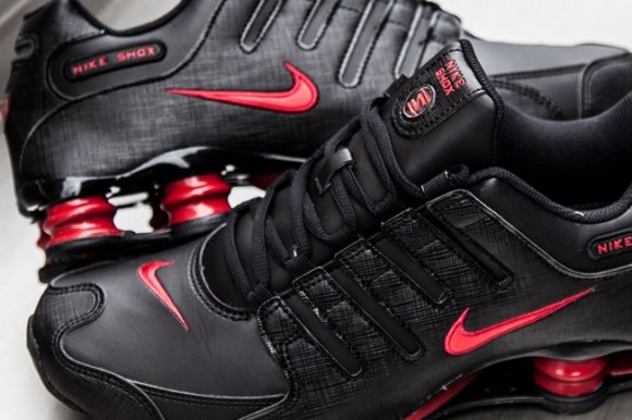 Nike Shox Nz Red And Black