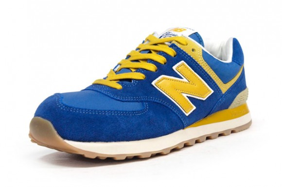 new balance 574 yellow blue