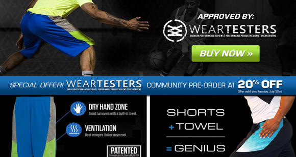 Performance Deals WearTesters Exclusive 20 Off Point3 DryV Baller 2.0 Shorts