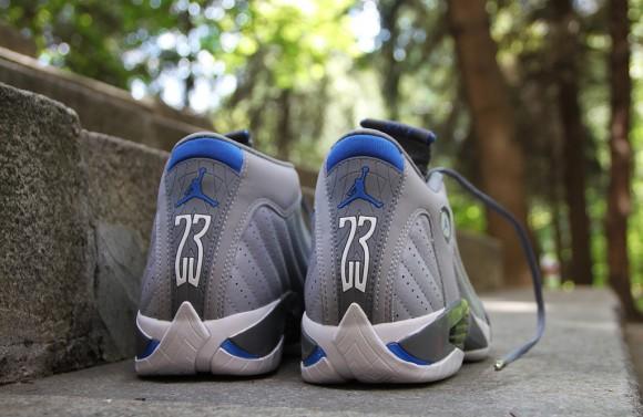wholesale dealer 821bf aa110 Air Jordan 14 Retro Wolf Grey/Sport Blue- New Images ...