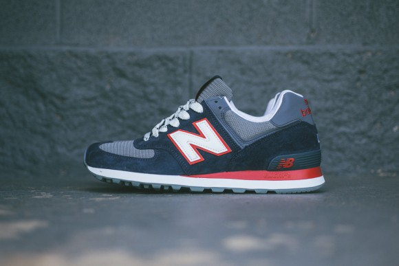new balance 574 navy red white