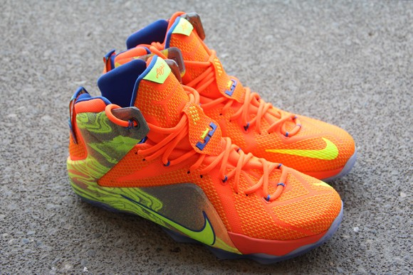 the best attitude cb7ae 6ceed Nike LeBron 12 Orange/ Volt - Detailed Look - WearTesters