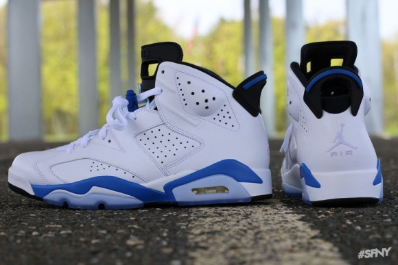 purchase cheap c1615 af12b Air Jordan 6 Retro 'Sport Blue' - Another Look + Release ...