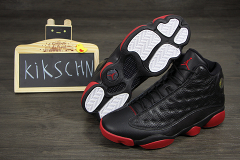 reputable site ad589 0f327 Air Jordan 13 Retro Black/ Red - New Images - WearTesters