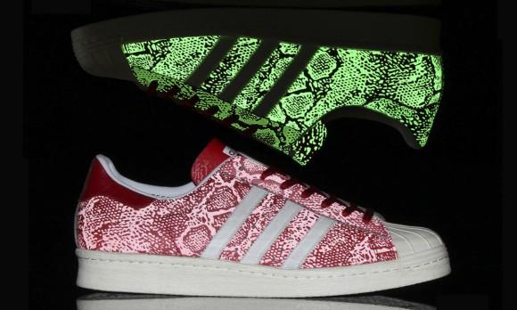 adidas Originals Superstar 80's 'Glow in the Dark Reflective Snakeskin'-14