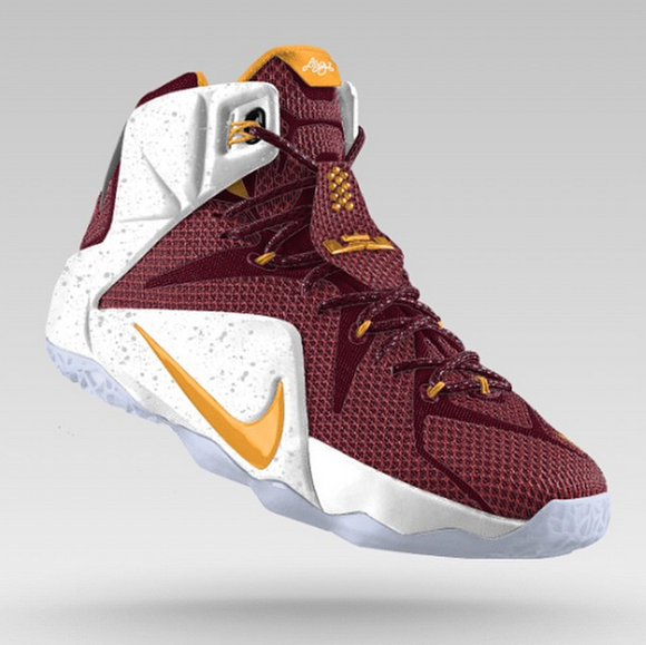 wholesale dealer e144c 95045 lebron 12 cavs