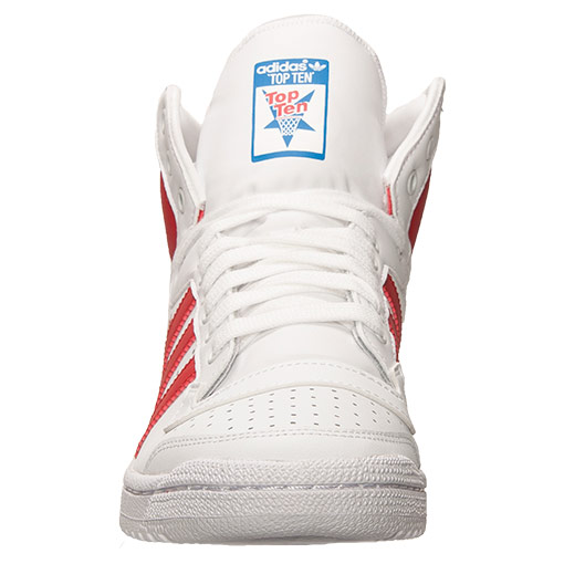 bas prix 63277 d93ac adidas Top Ten Hi White/ Collegiate Red - Available Now ...