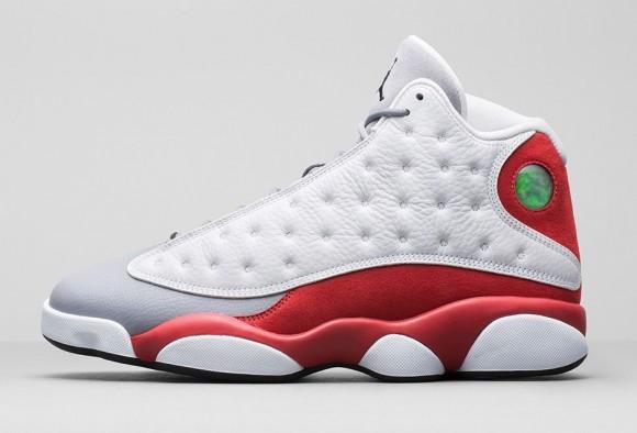 Discount Air Jordan 13 Retro 2014 Grey Toe White Grey Red Basketball Shoes