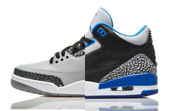 Air Jordan 3 Retro 'Sport Blue' 'Wolf Grey' - Restocked