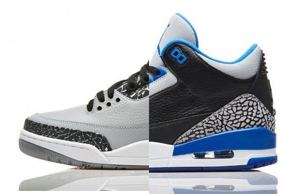 Air Jordan 3 Retro 'Sport Blue' 'Wolf Grey' – Restocked