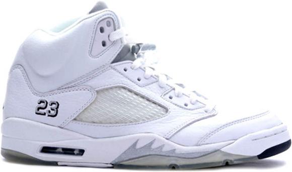 Air Jordan 5 Retro White Metallic Silver - Release Date
